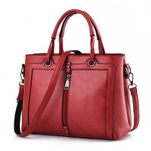 Casual Large Bag 2016 New Women Occident Style Elegant font b Handbag b font Front Zipper