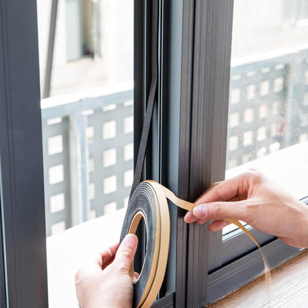 2 m/1 롤 단면 접착 방수 날씨 스트리핑 폼 스폰지 고무 스트립 테이프 도어 씰 핫 세일