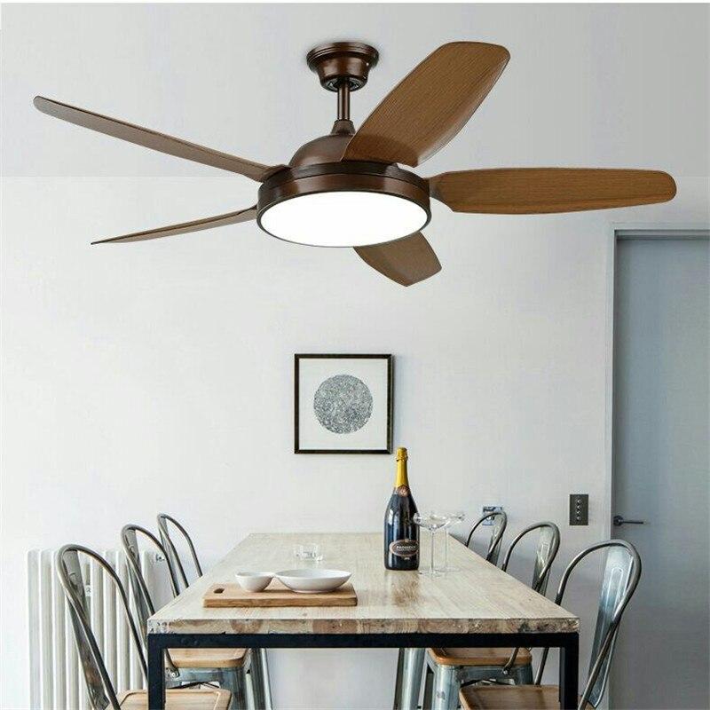 52 дюймов простой светильник потолочный вентилятор Гостиная PAC имитация дерева вентилятор Спальня вентилятор Кофе магазин ресторан светоди