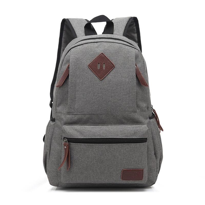 New Casual Woman's School Backpack Classic Oxford Laptop Backpacks Men Travel Shoulder Bags Vintage Canvas Teenager School Bags