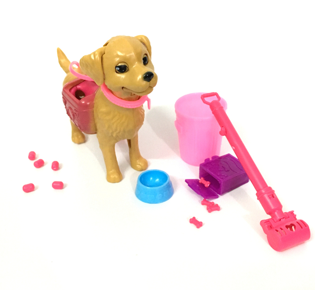 barbie doll house furniture. NK One Set Plastic Dog Pet For Barbie Doll Girl Dollhouse Furniture Funny 1:6 House R