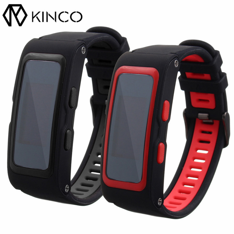 KINCO OLED GPS PPG Track Record Bracelet Bluetooth Waterproof Multiple Movement Modes Heart Rate Monitor Smart Wristband Watch smart baby watch q60s детские часы с gps голубые