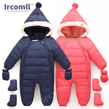 Ircomll High Quality Baby Rompers Jumpsuits Down Cotton Outwear Newborn Baby Clothing Cotton Long Sleeve Hooded Toddler Clothes