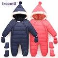 Ircomll Высокое качество Детские ползунки комбинезоны хлопковая верхняя одежда для новорожденных одежда из хлопка с капюшоном и длинными рука...