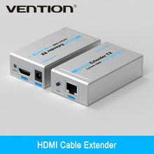Vention High Quality HDMI Cable Extender HD 1080p/1080i/720p Double Cat5/6 60M Launcher+Receiver HDMI Cable Extender