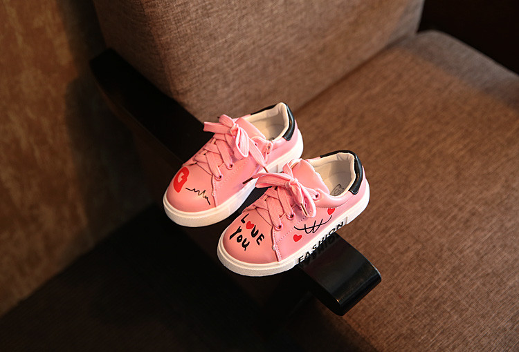 COZULMA Girls Boys Casual Shoes Sneakers 17 Children Sport Shoes Baby Boys Shoes Kids Letters Lace-Up Running Shoes Sneakers 4