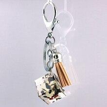 Liga de Zinco de Cristal de vidro Moda Coreana Fivela Acessórios Do Carro chaveiro em lote conjunto da cadeia de moda chave da cadeia de telefone Móvel 6