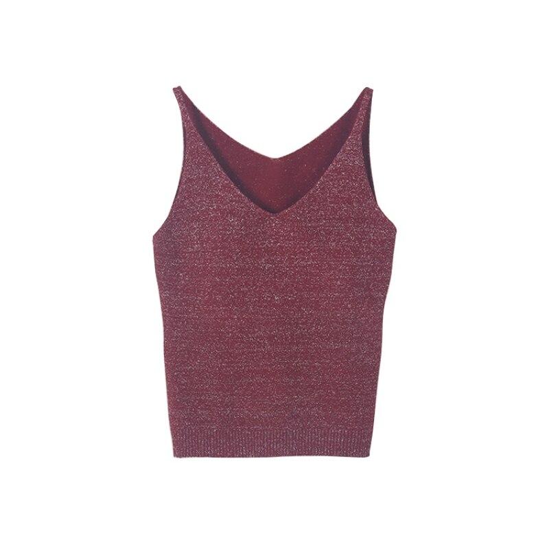 Sexy Women Fashion Knitting Vest   Top   Sleeveless V-Neck Blouse Casual Slim   Tank     Tops   2017 Hot Sale