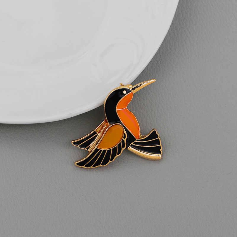 2019 Baru Kartun Enamel Bros Kreatif Hewan Burung Elang Burung Hantu Paduan Bros Sederhana Fashion Denim Kemeja Kerah Pin Perhiasan Hadiah