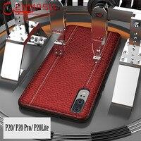 Huawei P20 Pro Lite Case Genuine Leather Back Cover Huawei P20 Lite Luxury Full Protective Smart Phone Case Nova 3e Coque Fundas
