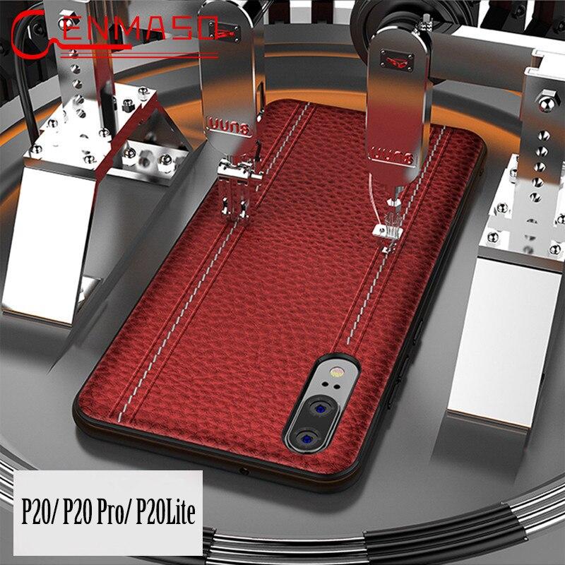 Huawei P20 Pro Lite Cas En Cuir Véritable Couverture Arrière Huawei P20 Lite De Luxe Plein De Protection Téléphone Intelligent Cas Nova 3e coque Fundas