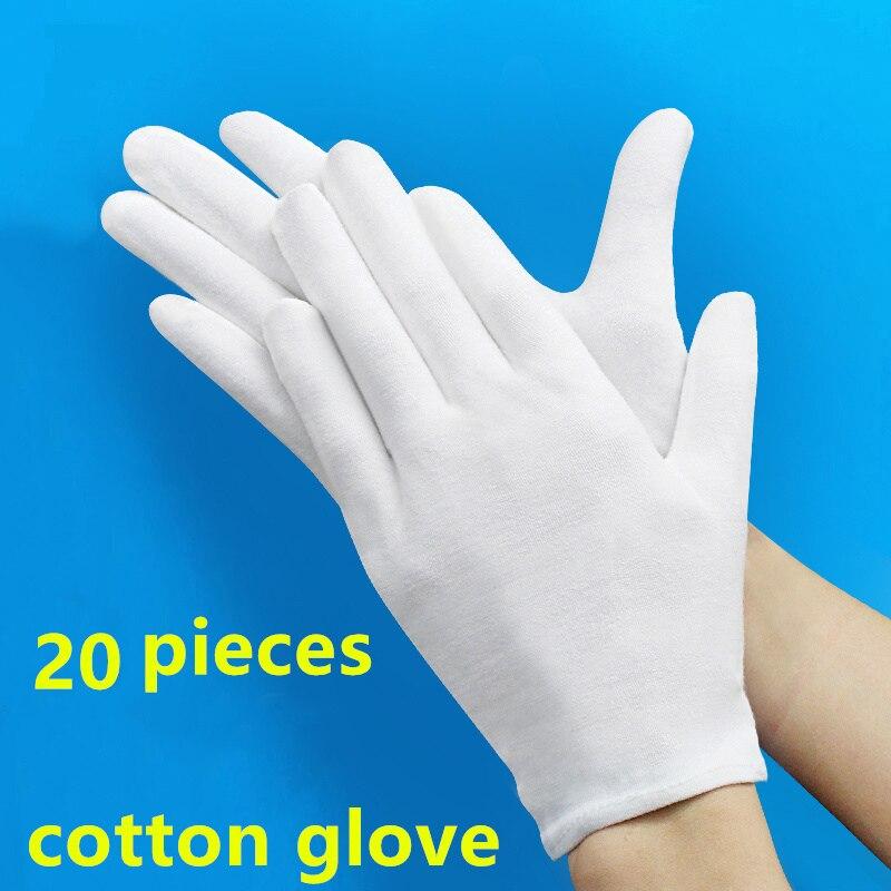 20 PCS Thick gardening cleaning cotton Glove Housework hand protector S L XL White garden genie guantes jardineria rukavice Bar