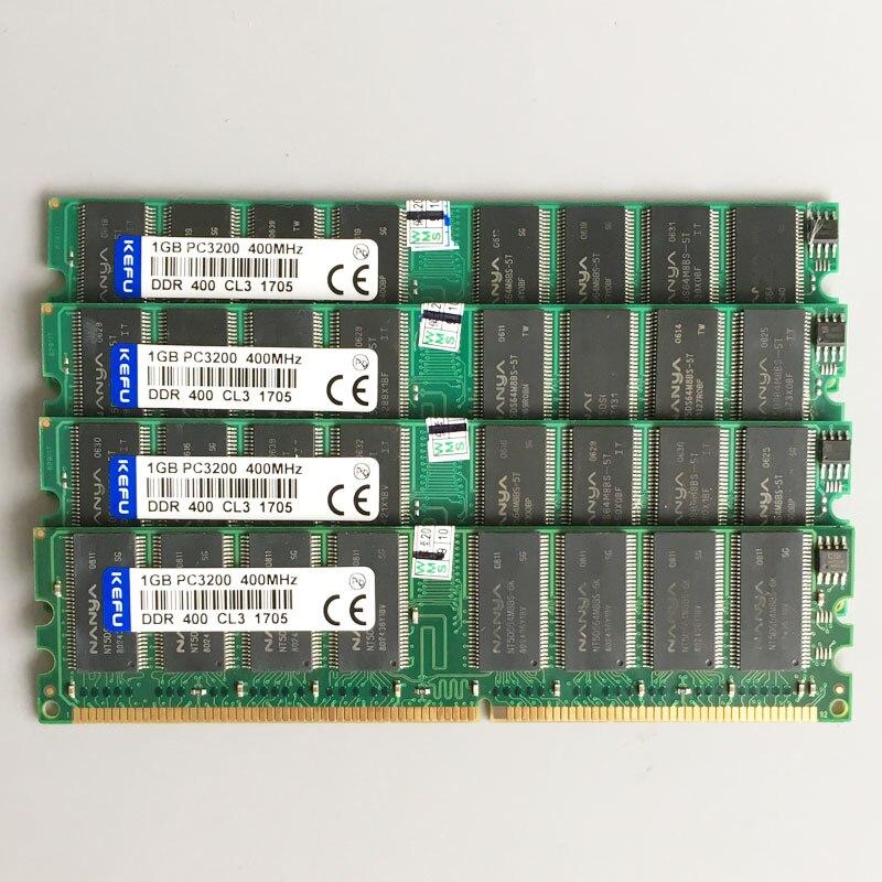4 GB 4x1 GB PC3200 DDR 400 MHZ 184 pin Bassa densità Desktop memoria 2Rx8 CL3.0 DIMM 4G DDR1 RAM Non ECC