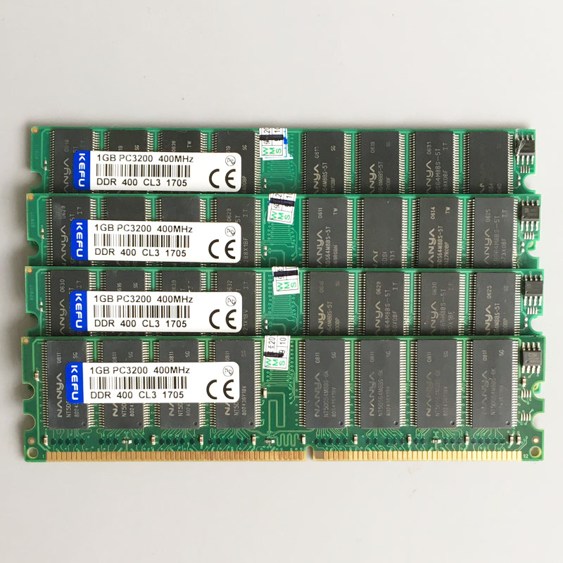4GB 4x1GB PC3200 DDR 400MHZ 184pins Low density Desktop memory 2Rx8 CL3.0 DIMM 4G DDR1 RAM Non ECC