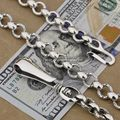 Huge & Heavy Solid 925 Sterling Silver Fashion Wallet Chain 8F001WC(Length 16inch)