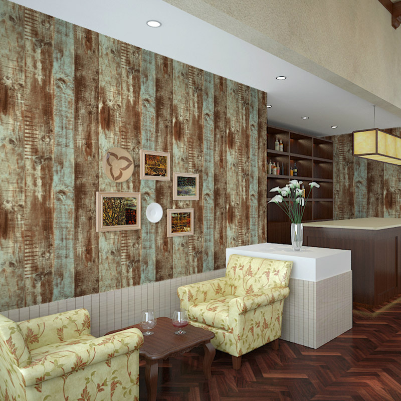 Beibehang Embossed Nostalgic Chinese Wood Papel Flooring