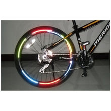Bicycle reflector Fluorescent MTB Bike Bicycle Sticker Cycling Wheel Rim Reflective Stickers Decal Accessories(China)