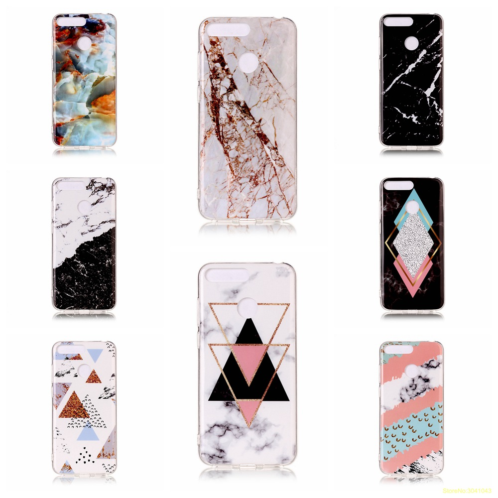 Luxury Marble pattern high Quality soft TPU phone case For Huawei <font><b>Y5</b></font> 2018 Y6 2018 Y7 2018 Y9 <font><b>2019</b></font> fundas coque cover etui kryt image