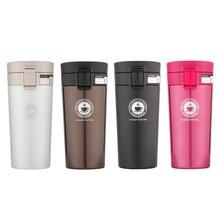 HOSHIZORA Vacuum Insulated Coffee Mug Travel Cup Tumbler One Hand Operation Lid with Easy-clean Tea Strainer 320ml 380ml