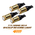 4 PCS Car-Styling 5W LED T15 W16W 921 912 32SMD 4014 Lamp Backup Reverse Light Bulb Black Golden With Lens