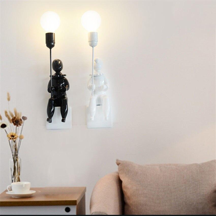 aliexpress : nordic kreative clown led wandleuchte loft stil, Wohnzimmer