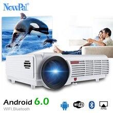 NewPal 5500 люмен домашний проектор LED96 плюс Android 6,0 Поддержка 1920*1080 P Bluetooth WI-FI 3D Full HD Proyector с бесплатный подарок