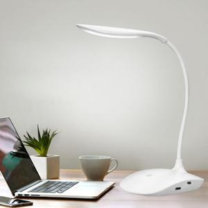 Image 3 - 600LUX Brightness 360 degree Foldable USB Rechargeable Touc h Sensor Table LED Lamp 3 level Dimmable Reading Study Desk Light