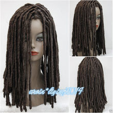 Ladies Wig Dreadlock Long Medium brown Curls Hair Cosplay fancy dress Women's Heat Resistant Hair Wigs FREE SHIPPING цена