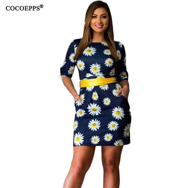 fashionable floral print women dresses big sizes 2017 plus size women clothing 5XL 6xl dress casual o-neck office bodycon Dress