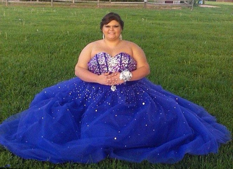 Sweetheart Off The Shoulder Tulle With Crystal Plus Size Royal Blue ...
