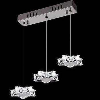 3Lights,Luminaire Modern K9 Crystal Led Lamp Pendant Light For Home Dining Room,Lustres De Cristal Sala Teto,Bulb Included hot selling perforated lustres de teto european luxury double helix stair pendant lights 100% crystal guarantee