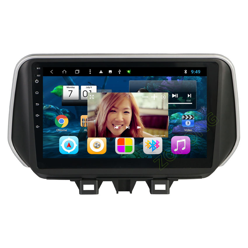2.5D 10.2inch Octa 8 Core Android Car multimedia DVD Player  for Hyundai New Tucson IX35 2018 2019 CAR radio GPS navigation BT-in Car Multimedia Player from Automobiles & Motorcycles    3