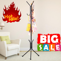 Creative Fashion Wrought Iron Coat Rack Coat Hanger for Hanging Clothes, Metal Clothes Stand Rack For Children