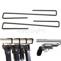 4 peças de arma coldre seguro pistola cabides pacote de 4 cabides de arma cabides de arma handy para prateleiras e cofres