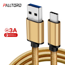 Palltoro Nylon USB 3.0 to Type C Cable for Samsung Galaxy Note 9 S9 S8 Fast Charging Data Cable for Huawei Nexus 6P USB Type-C portable charging dock cradle usb data cable for samsung galaxy nexus i9250 black