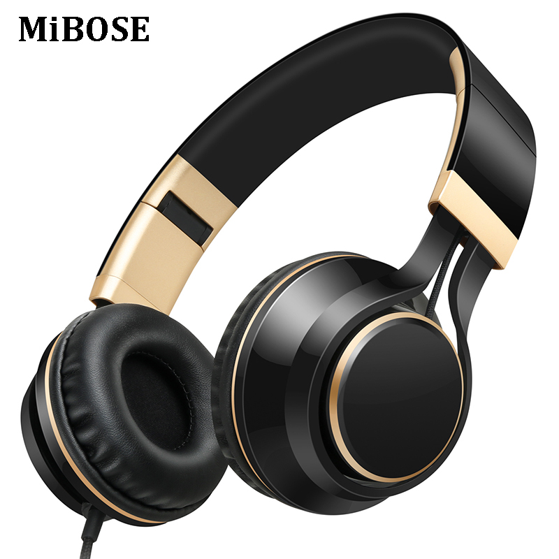 MiBOSE Headphones 3.5mm wired gaming headset music earphones Bass fone de ouvido folding ...