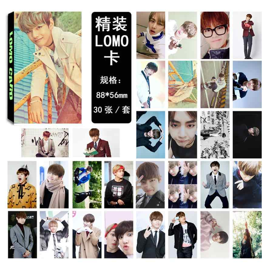 Kpop BTS V Love Yourself Wings Lomo Photo Card Kim Taehyung Paper  Photocards Cards 30pcs/box