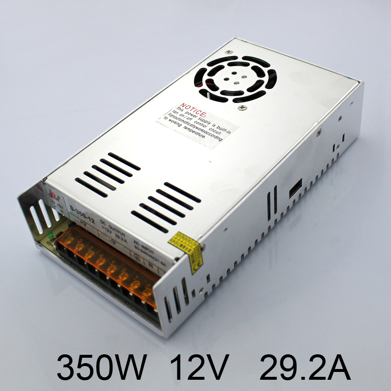 S-350-12V Factory Direct Wholesales High Quality LED Switching Power Supply LED Power Source 350W 12V 29A Transformer 100-240V 20pcs 350w 12v 29a power supply 12v 29a 350w ac dc 100 240v s 350 12 dc12v