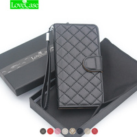 For Iphone 7 Women Luxury Classic Grid Phone Leather Case Cover For IPhone 7 7 Plus