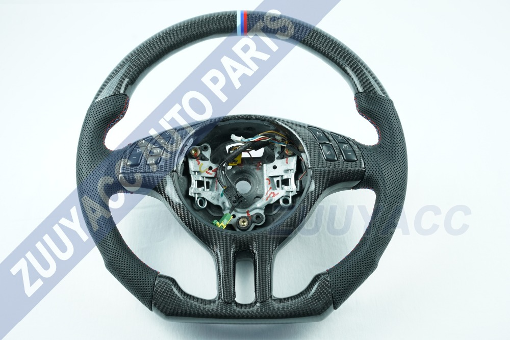 Carbon Fiber Leather Steering Wheel for BMW E46-in Steering Wheels & Horns from Automobiles & Motorcycles