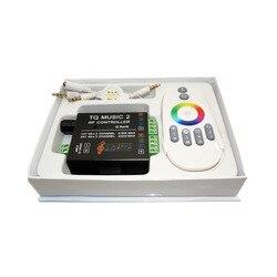 أفضل سعر 1 قطع DC12-24V 18A RGB الموسيقى 2 تحكم RF عن بعد ذكي سونيك حساسية Led الخلفية عن بعد ل Led قطاع