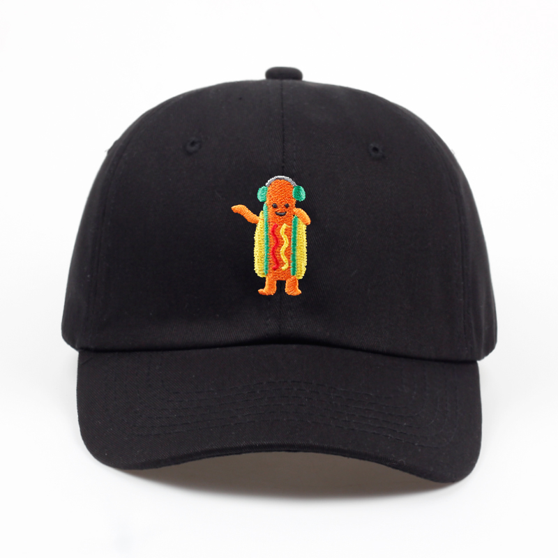 2018 new Hot Dog Embroidered Dad Hat Summer men women fashion   Baseball     Cap   Adjustable Hip hop snapback   cap   hats