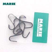 5Pcs Nylon Practical Hooks S Shape Kitchen Railing Hanger Hook Clasp Holder For Hanging Clothes