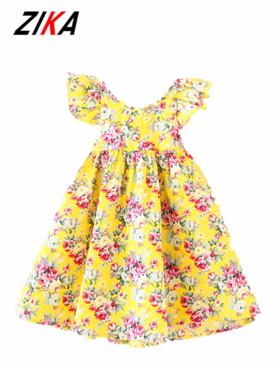 fceb36f9c ZIKA Girls Dress 2017 Summer Girl Dress Fashion Butterfly Sleeve ...