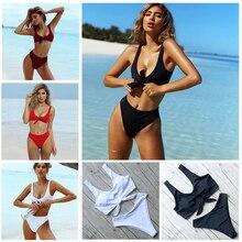 High Waist Push Up Brazilian Thong Bathing Suits