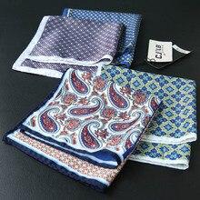 32 см Карманный квадратный искусственный шелк принт мужской носовой платок в горошек Цветочный платок с узором пейсли Модный классический свадебный карман квадратный
