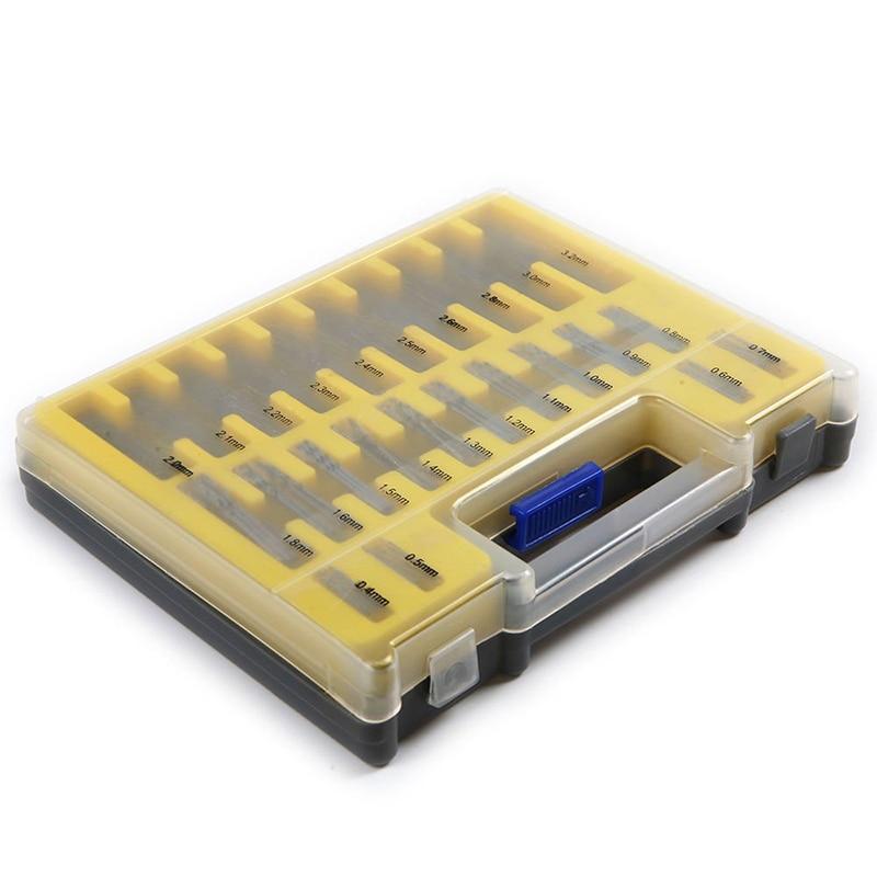 150Pcs/Set 0.4-3.2mm Mini Drill Bit Set HSS Microtech Power Tools Small Precision Twist Drill Kit with Plastic Box 13pcs set hss high speed steel twist drill bit for metal titanium coated drill 1 4 hex shank 1 5 6 5mm power tools par ad1038
