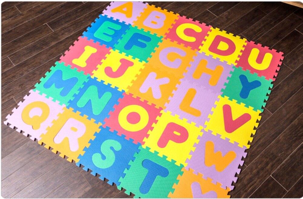Enfants de bébé ramper tapis, épaississement 1 cm EVA de jeu en mousse Puzzle mat/lettre AZ Verrouillage tapis de sol