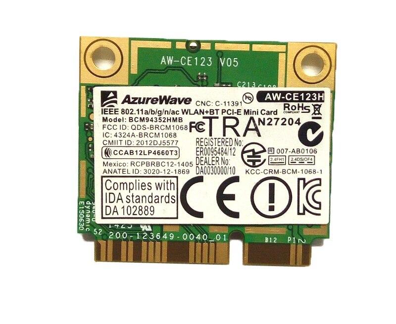 SSEA NEW for Broadcom BCM94352HMB Half MINI PCI-E Dualband 2.4G/5G 802.11a/g/n/ac Wlan WIFI Wireless Bluetooth 4.0 card atheros 9285 ar5b95 ar9285 802 11b g n 150mbps wifi half mini pci e wlan wireless card for ibm z380 z385 z580 z585 g555 g560
