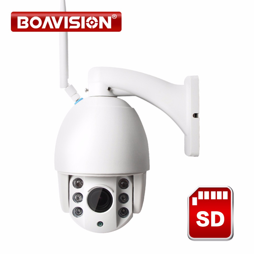 Wireless PTZ Speed Dome IP Camera WIFI Outdoor 1080P 960P 4x Zoom CCTV Security Network Surveillance Camera Night Vision IR 60M new waterproof ip camera 720p cctv security dome camera video capture surveillance hd onvif cctv infrared ir camera outdoor